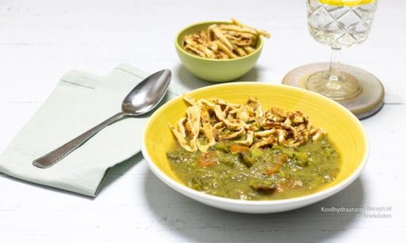 eten tijdens de nachtdienst, eiwitrijke prei broccolisoep