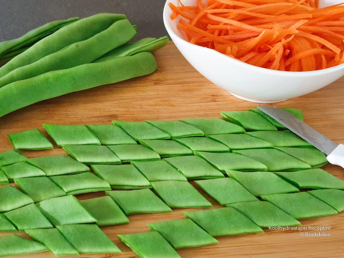 de gemengde groente