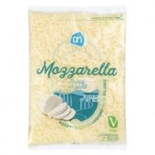 nieuwe verpakking mozzarella geraspt AH