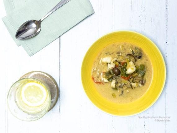 verkwikkende Thaise soep