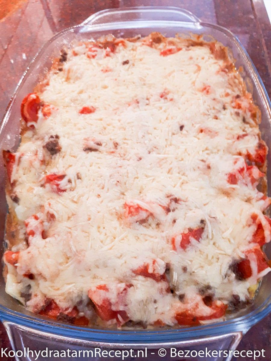 Gehakt- tomaat ovenschotel van Margreet