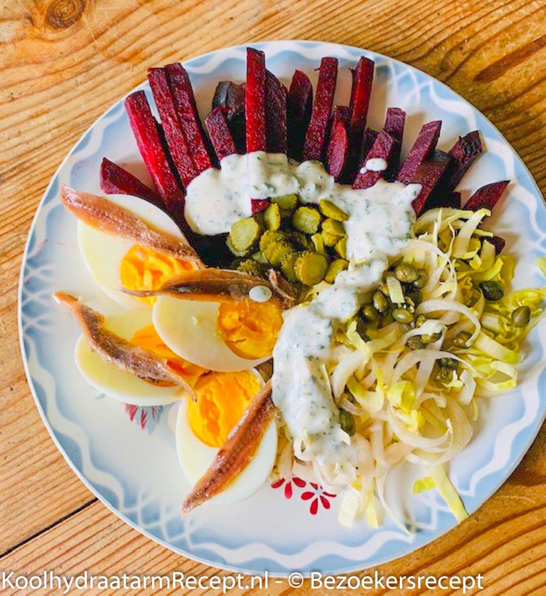 bietlof salade van Marjorie