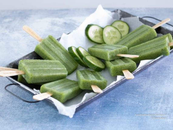 koolhydraatarme komkommer ijsjes
