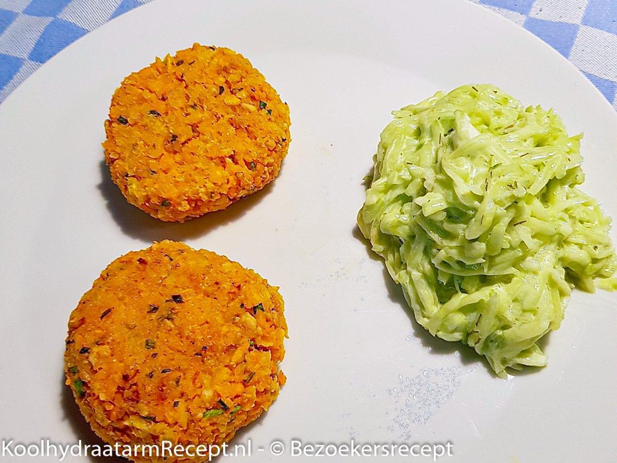 koolhydraatbeperkte wortelburgers