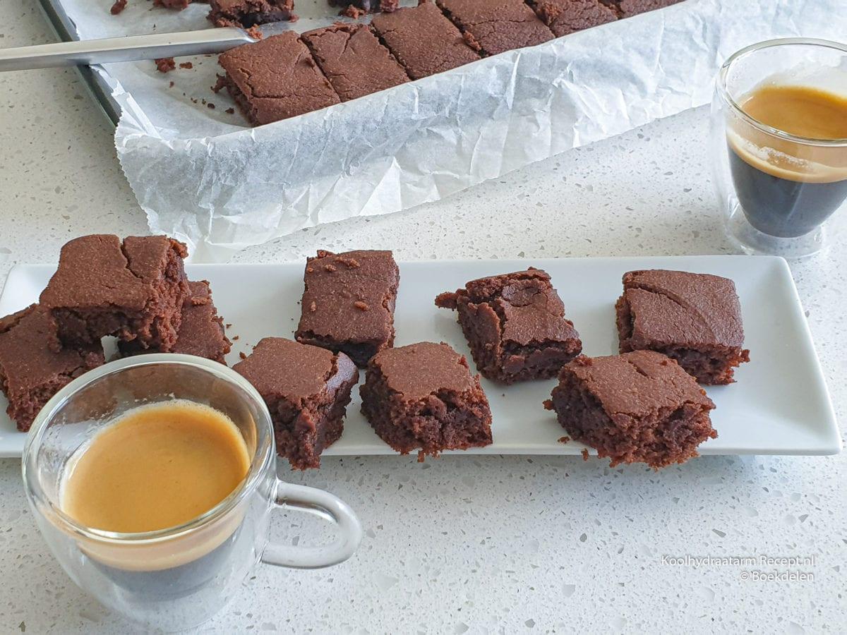 Koolhydraatarme brownies met roomboter