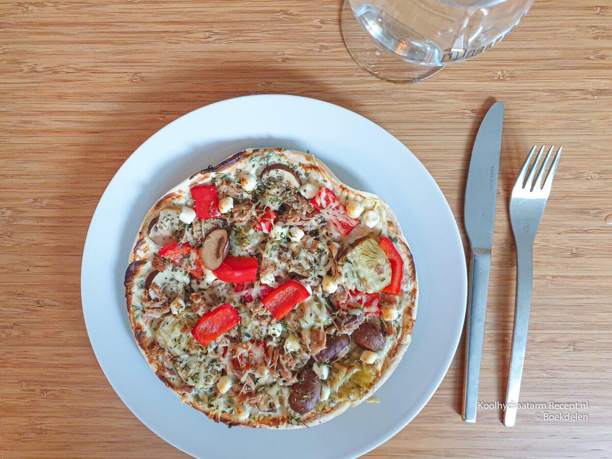koolhydraatarme lo-dough pizza