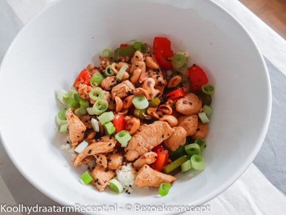 koolhydraatarme Chicken Kung Pao