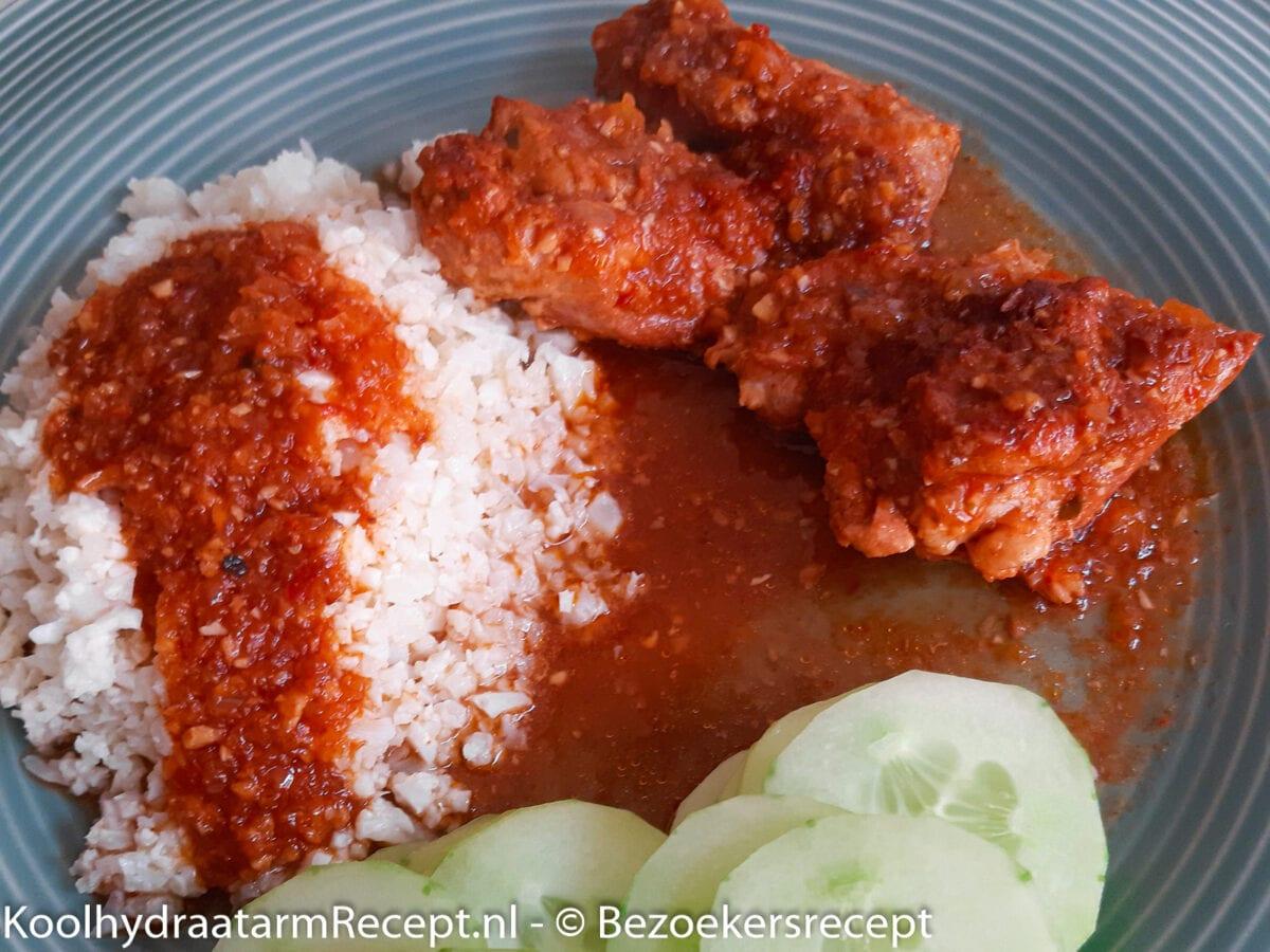 Ajam Rica Rica, hete kip van Marloes