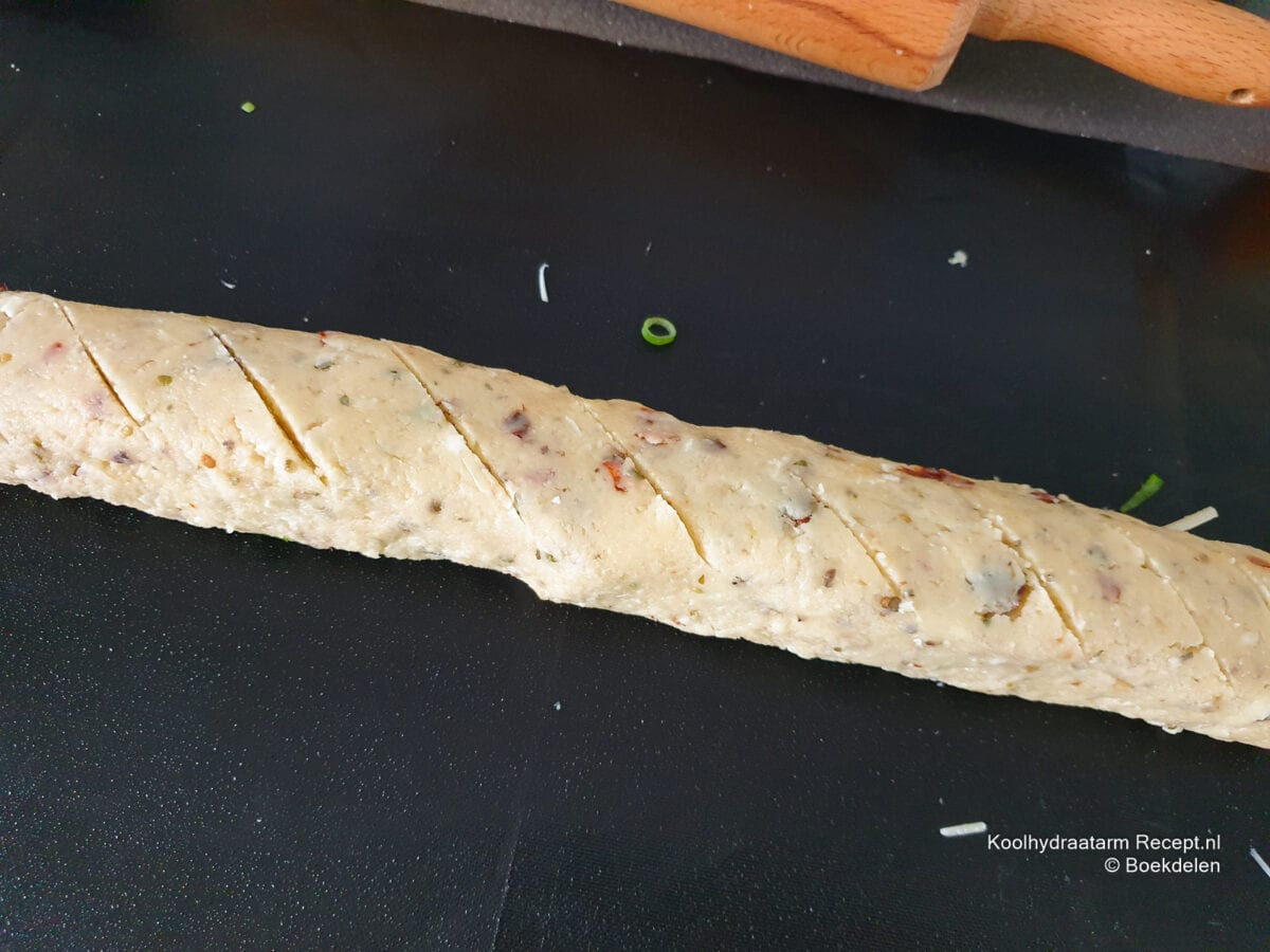 Koolhydraatarm gevuld snackbrood