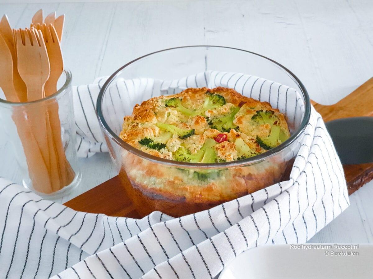 koolhydraatarme broccolisoufflé