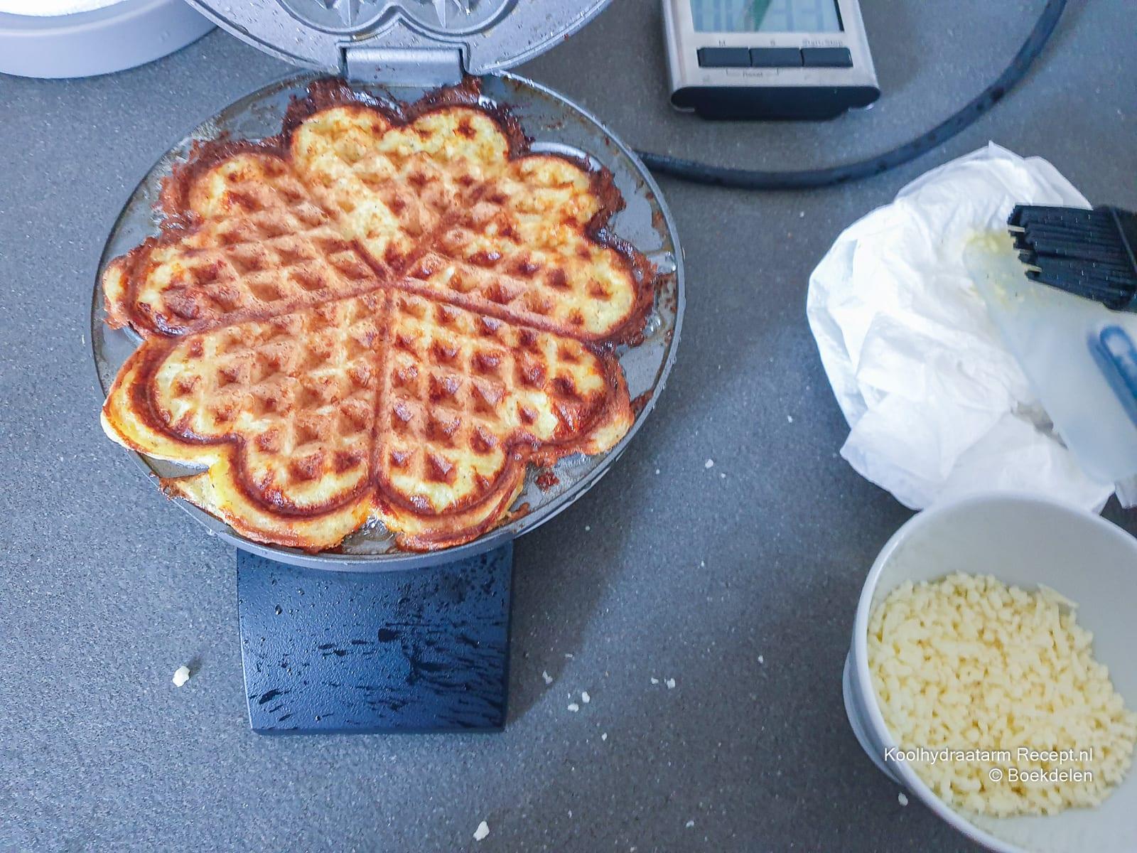 gebakken chaffle - suikervrije wafel