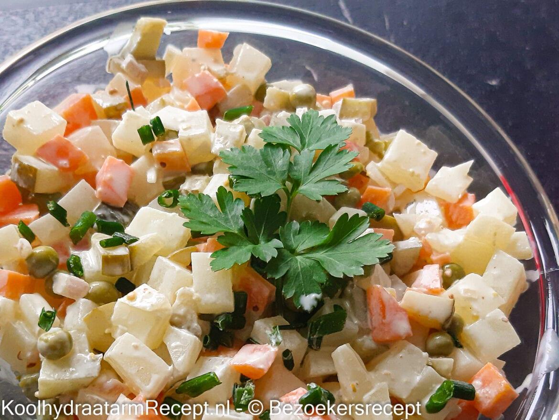 koolhydraatarme knolraap salade