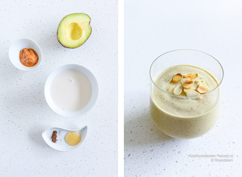 Avocado amandel smoothie